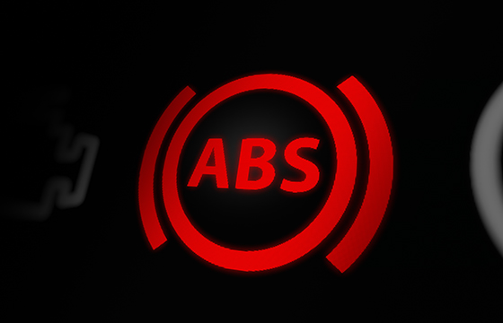 diagnostic check using ABS warning light on
